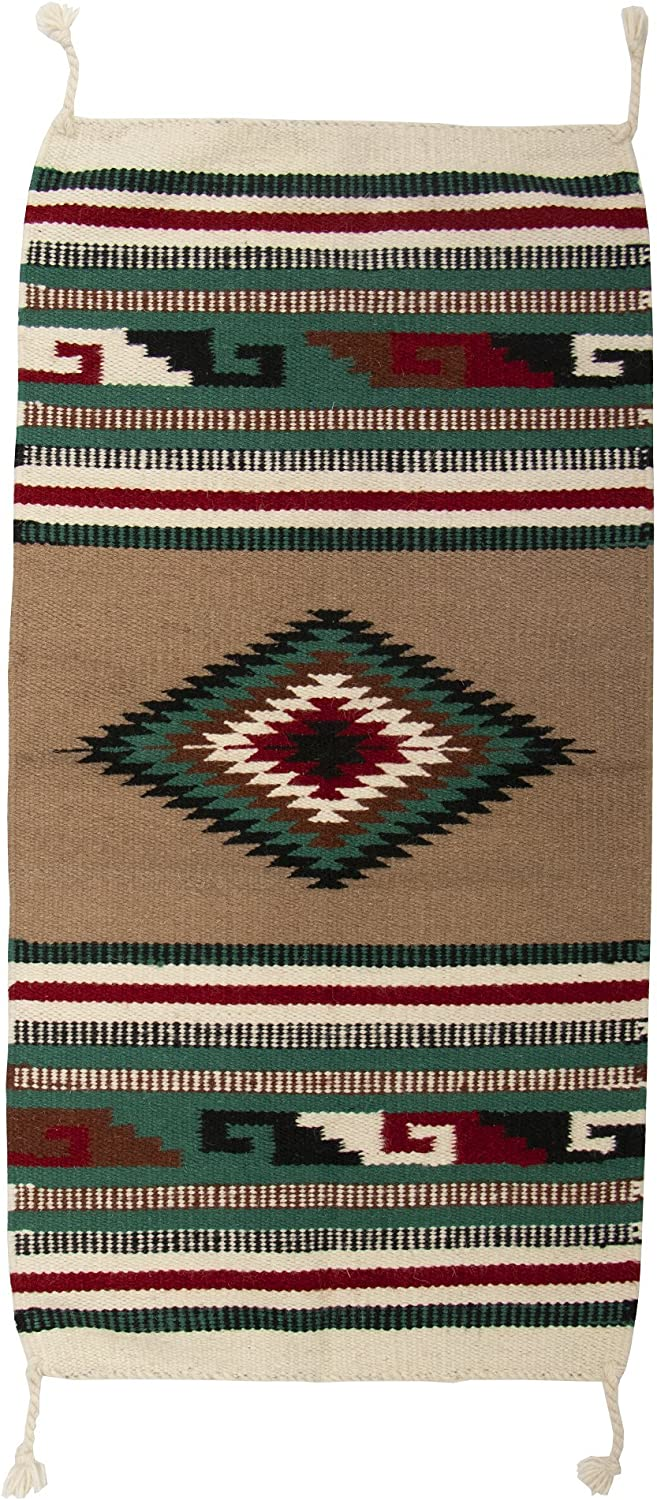 El Paso Designs Southwest Hand Woven Wool Accent Rug (20  X 40 ) (HII40117L)