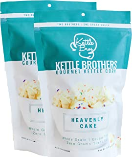 Popcorn - HEAVENLY CAKE - Drizzled Kettle Corn - Kettle Bros. Gourmet Kettle Corn - 2 Pack(Large 5 oz bags)