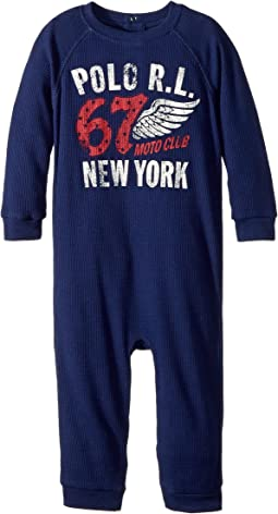 Ralph Lauren Baby - Waffle-Knit Graphic Coverall (Infant)