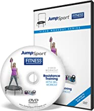 JumpSport Fitness Trampoline Workout DVDs | Strength & Resistance Training | Kettlebell and Flat Bands Options Available
