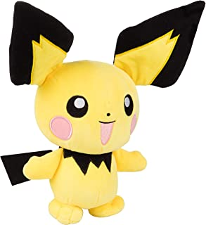Pokémon Plush Pichu 8 Inches, Cuddle Toy, Perfect for Playing & Displaying