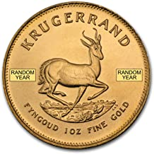 1967 ZA - Present South Africa 1 oz Gold Krugerrand (Random Year) 1 OZ About Uncirculated