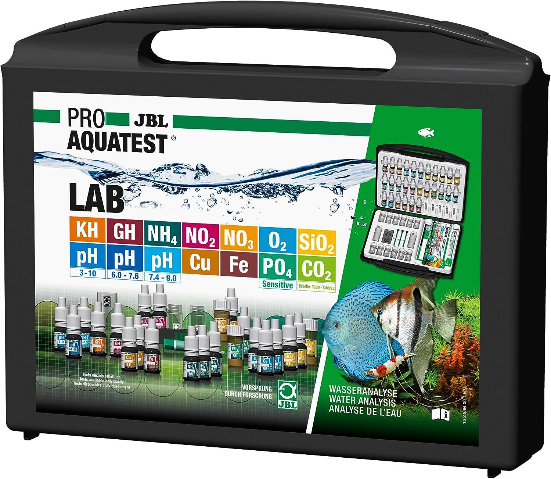 JBL Maletín de Prueba de Agua, 14 Pruebas y Accesorios, para acuarios de Agua Dulce y Agua del Grifo, ProAquaTest Lab