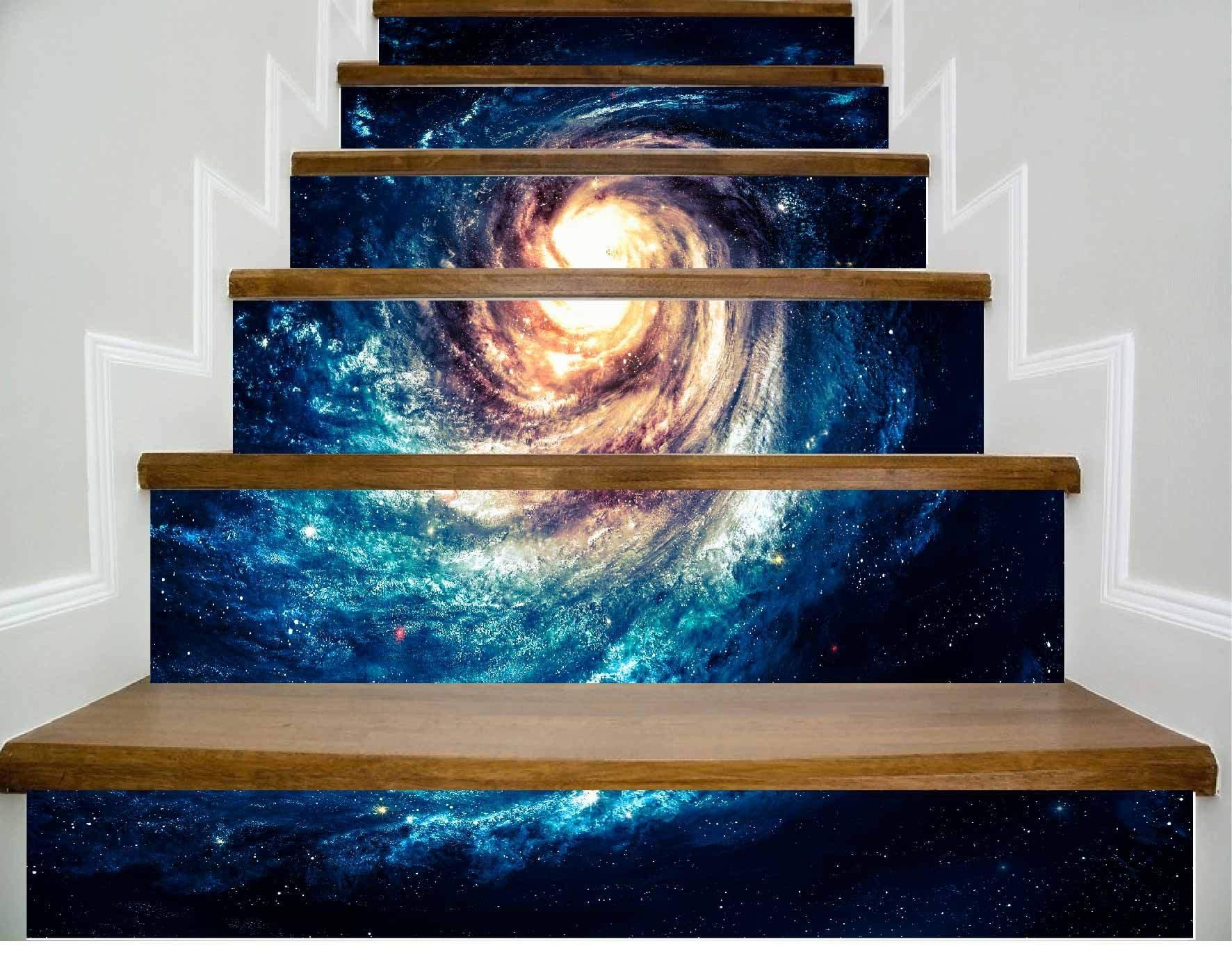 Escaleras de papel tapiz autoadhesivo Cool Star Decoración del hogar 3D desmontable de bricolaje Pegatinas tridimensionales HD moderno Papel pintado de escaleras a prueba de agua Compre tres y obtenga uno: Amazon.es: