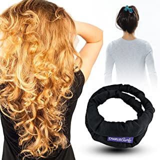 CharlieCurls: On The Go, One-Piece, Easiest ever No Heat Hair Curler (Black)