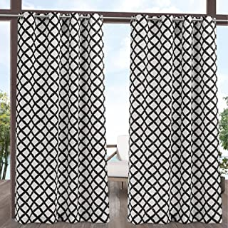 Exclusive Home Curtains EH8450-01-2108G Bamboo Trellis Indoor/Outdoor Light Filtering Grommet Top Curtain Panel Pair, 54x1...