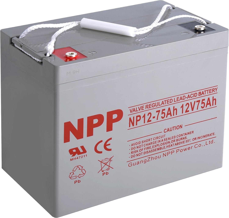 NPP NP12-75Ah Rechargeable supreme 12V 75 Ah Lead Battery Sealed Acid 5 ☆ popular wi