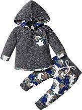 Peuter Pasgeboren Baby Jongens Dinosaurus Kleding Lange Mouw Hoodie Tops Camouflage Broek Sweatsuit Set