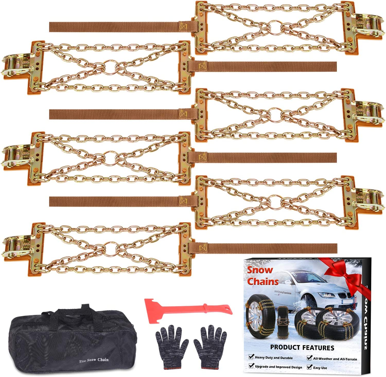 Tire Chains Snow for suvs Max 88% OFF Cars Sedan Family San Diego Mall Automobil