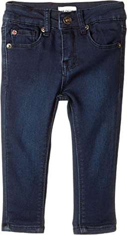 Collin Fit Skinny Five-Pocket French Terry in Canal Blue (Infant)