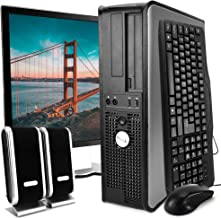 Dell Desktop Computer Package with WiFi, Dual Core 2.0GHz, 80GB, 2GB, Windows 10 Professional, Dell 17in Monitor (Renewed)