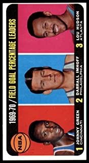 1970-71 Topps #3 Johnny Green/Darrall Imhoff/Lou Hudson 1969-70 Field Goal Percentage Leaders NBA Basketball Card EX Excellent