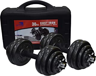 Skyland Unisex Adult Cast Iron Dumbbell Set Em-9221-30 - Black, L 50 X W 30 X 17 cm