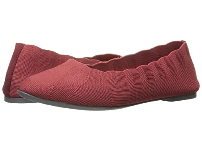 SKECHERS Cleo Bewitched Engineered Knit Skimmer (Red) Women
