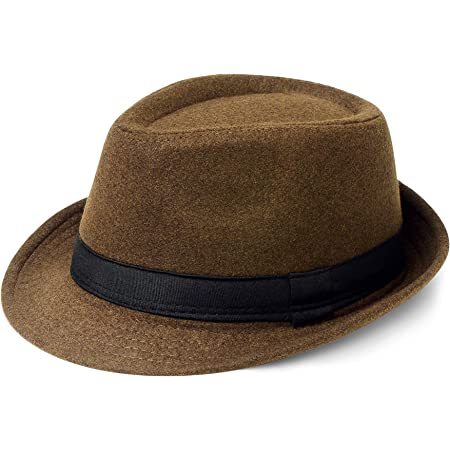 Coucoland Fedora Hats for Men Panama Summer Beach Sun Jazz Cap Linen Panama Hat Trilby Holiday Traveling Hat Felt WineRed