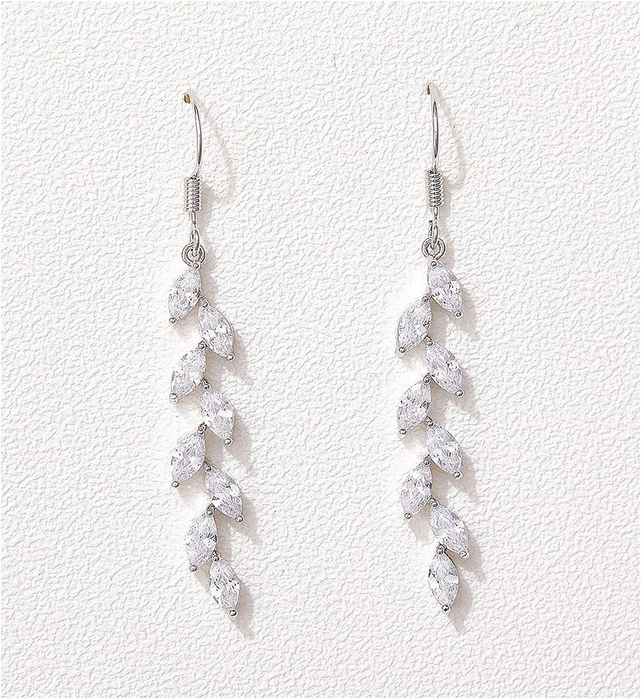 Translated SWEETV Marquise Wedding Max 63% OFF Dangle Earrings Birdesmaid for Brides C