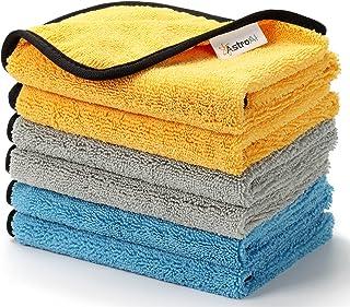 AstroAI 洗車タオル マイクロファイバー 洗車ふき取り 磨き上げ 超吸水 より大きい より厚い 6枚セット 40x40cm 洗車用 家事用
