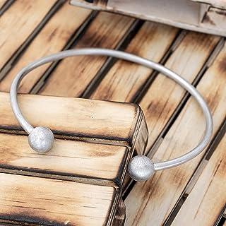 925 pulsera de plata esterlina para hombres regalo para hombres pulsera hombres brazalete pulsera brazalete joyería rústic...
