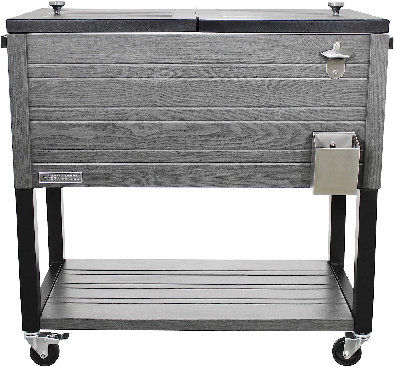 Permasteel OFFicial store PS-A205-80QT-GY 80 Max 63% OFF Quart Patio Cooler Gray