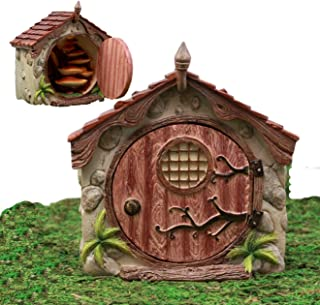 Atlantic Collectibles Enchanted Fairy Garden Miniature Cottage Dome House With Hinged Door & Toadstool Stairs Figurine Do It Yourself Ideas For Your Home
