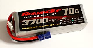 RoaringTop LiPo Battery Pack 70C 3700mAh 6S 22.2V with EC5 Plug for RC Car Boat Truck Heli Airplane