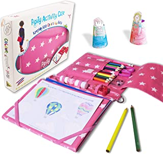 Pipity Arts and Crafts for Girls. Kits with Stationary Set + Kids Activity Book: Paper Craft, Art, Travel Games Activities. Great Gifts for a Girl Age 6,7,8,9,10 Years Old