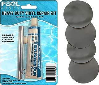 Pool Above Repair Kit for Supreme Air-Flow Mattress   Vinyl Glue   Gray Patches