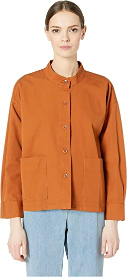 Mandarin Collar Boxy Jacket