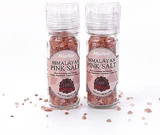 HijiNa Himalayan Pink Salt Crystals with Built in Grinder (110g - Pack of 2)