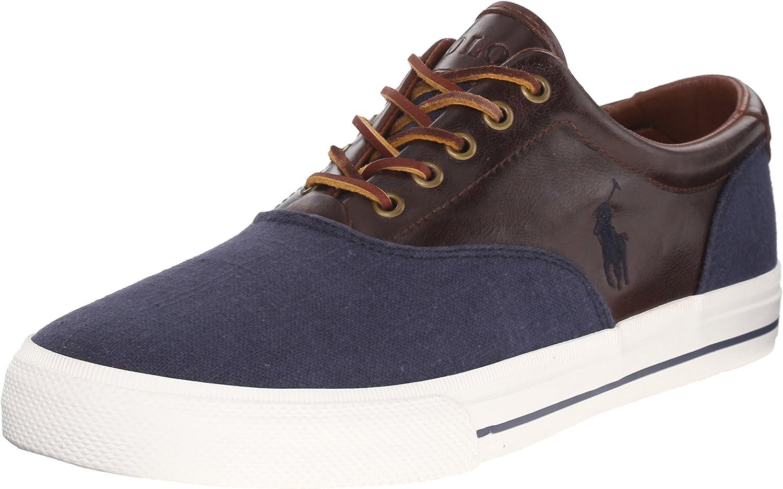 Polo Ralph Lauren Mens Vaughn Saddle Fashion Sneaker