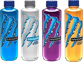 Monster Energy Hydro Sports Drink, 4 Flavor Variety Pack, 25.4 ounce (Pack of 12)