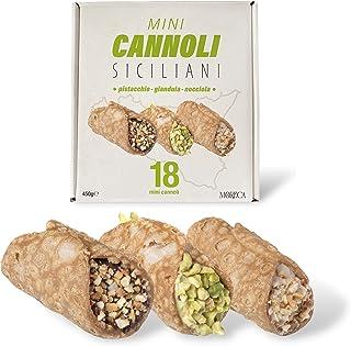 Siciliaanse mini cannoli, gevuld met pistache, gianduia en hazelnootcrème   18 Mini Cannoli in zakje per portie   elegante...
