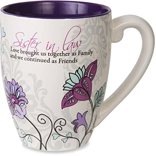 Mark My Words Pavilion Gift Company Sister In Law Floral Butterfly Coffee Tea Mug Large