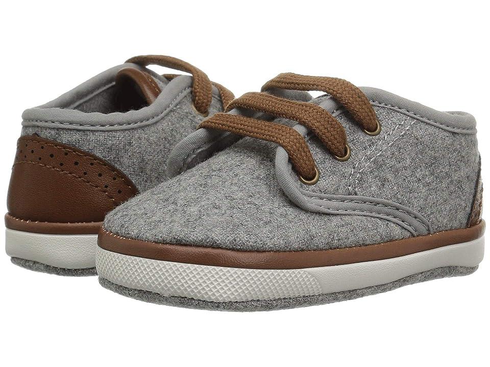 Baby Deer Soft Sole Faux Wool Sneaker (Infant) (Grey) Boys Shoes