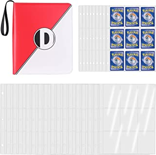 D DACCKIT 720 Pockets Binder for Pokemon Trading Cards, Card Holder Collectors Album with 40 Premium 9-Pocket Pages - Red & W