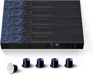 Nespresso Capsules OriginalLine, Ispirazione Palermo Kazaar ,Dark Roast Espresso Coffee, 50 Count Espresso Coffee Pods, Brews 1.35oz
