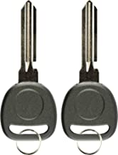 KeylessOption Replacement Uncut Transponder Chip Key Blank Ignition Circle Plus (Pack of 2)