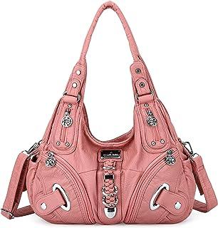Handbags for Ladies Bags Women Soft Leather Hobo Shoulder Bag Top-handle Zipper Purses