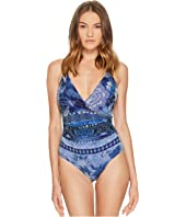 FUZZI - One-Piece Swimsuit In Batik Print