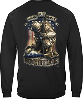 US Army | Honor Our Heroes Long Sleeve T Shirt ADD-MM2274LSXL Black