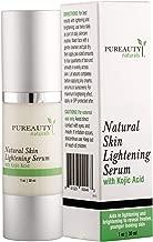 Skin Lightening Cream Dark Spot Corrector - Neck Cream Brightening Serum – Face and Full Body Whitening Cream with Kojic Acid and Jojoba Oil by Pureauty Naturals