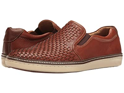 Johnston & Murphy McGuffey Woven Casual Slip-On Sneaker (Tan Full Grain) Men