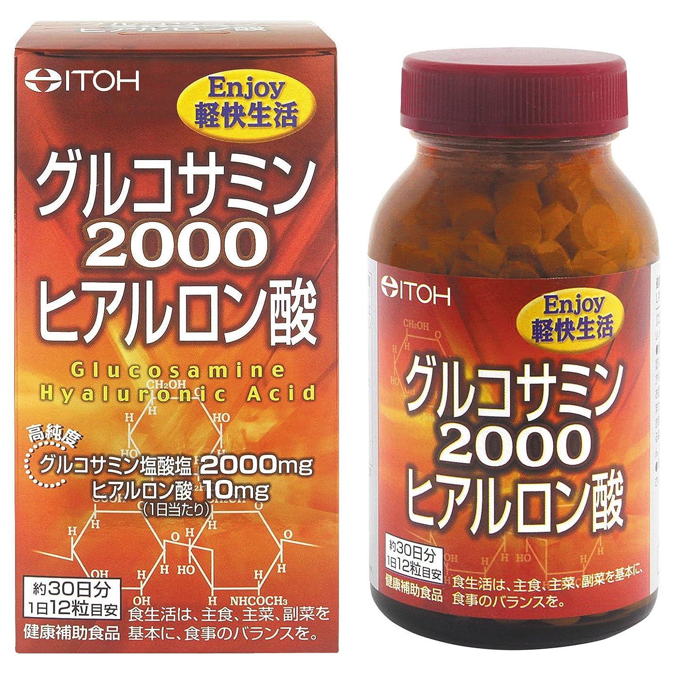 アレルギー半ば霧井藤漢方製薬 グルコサミン2000ヒアルロン酸 約30日分 300mgX360粒