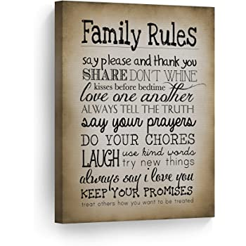 country home decor catalogs design idea and decors.htm amazon com smile art design family rules sign wall art canvas  family rules sign wall art canvas