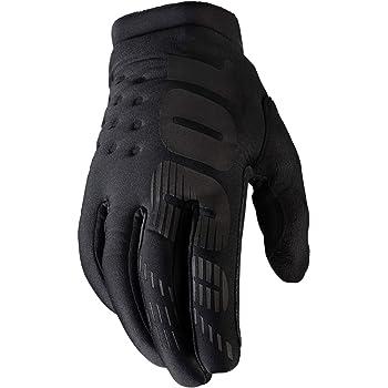100% Brisker Cold Weather Motocross & Mountain Bike Gloves (LG - BLACK/GREY) MTB & MX Racing Protective Gear - Large