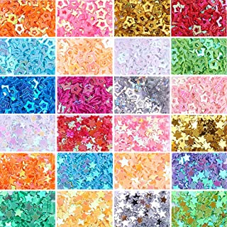 NBEADS 2 Boxes/Set of Assorted Colors Stars Confetti Glitter Star Sequins for Crafts DIY Nail Art and Party Decoration, 1.7-3.7x1.7-3.7x0.2mm