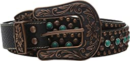 M&F Western - Nailhead and Turquoise Stone Belt