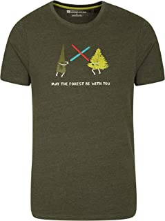 Mountain Warehouse Tri Linear Mens Tee - Lightweight T-Shirt, Cosy Top, Easy Care Tee Shirt - Best for Travelling, Hiking,...