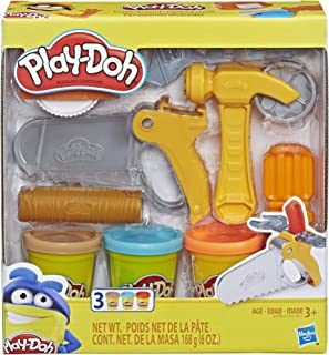 Play-Doh Toolin` Around Toy Tools Set for Kids with 3 Non-Toxic Colors
