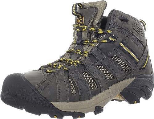 KEEN Men's Voyageur Mid Hiking botas,Raven Tawny Olive,16 M US